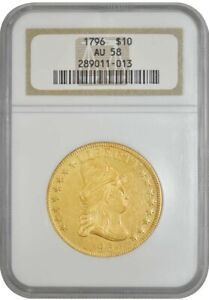 Click now to see the BUY IT NOW Price! 1796 $10 GOLD CAPPED BUST AU58 NGC 942751 16