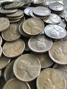 OLD LINCOLN WHEAT PENNY ROLL VINTAGE COINS US SALE COLLECTION