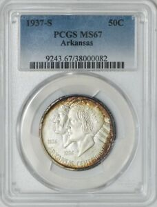Click now to see the BUY IT NOW Price! 1937 S ARKANSAS 50C MS67 PCGS 941858 5