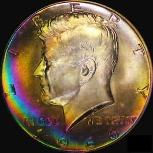 Click now to see the BUY IT NOW Price! 1966 PCGS MS67 SMS KENNEDY HALF   FINEST KNOWN RAINBOW KENNEDY IN EXISTENCE