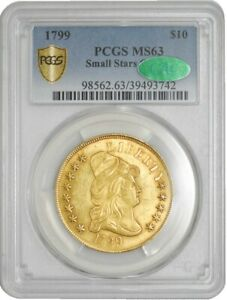 1799 $10 GOLD CAPPED BUST SMALL STARS MS63 PCGS SECURE CAC 942751 19