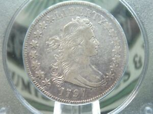 Click now to see the BUY IT NOW Price! 1797 DRAPED BUST SMALL EAGLE SILVER HALF DOLLAR 50C PCGS VF20 RATTLER ECC&C INC