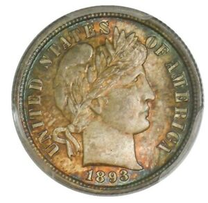 Click now to see the BUY IT NOW Price! 1893 BARBER DIME 10C MS67 SECURE PLUS PCGS 942869 6