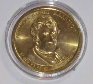2009 WILLIAM H. HARRISON PRESIDENTIAL DOLLAR COIN   $1 COIN USD   COIN CAPSULE