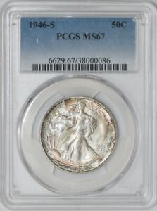 Click now to see the BUY IT NOW Price! 1946 S WALKING LIBERTY HALF 50C MS67 PCGS 941933 10