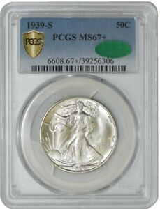 Click now to see the BUY IT NOW Price! 1939 S WALKING LIBERTY HALF 50C MS67  SECURE PLUS PCGS   CAC 941246 29