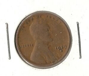 UNITED STATES WHEAT CENT 1929 D COPPER PENNY