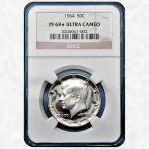 Click now to see the BUY IT NOW Price! 1964 KENNEDY HALF DOLLAR NGC PF 69 STAR ULTRA CAMEO TOP POP 2/0