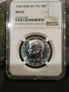 Click now to see the BUY IT NOW Price! 1966 NGC MS67 NO FG SMS KENNEDY HALF DOLLAR  4925576 002