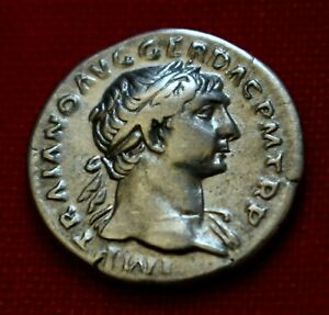 Click now to see the BUY IT NOW Price! GENUINE VF ROMAN COIN 107AD TRAJAN SILVER DENARIUS FORTUNA ROME