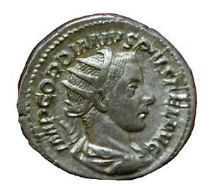 Click now to see the BUY IT NOW Price! GENUINE XF ROMAN COIN 243AD GORDIAN III SILVER ANTONINIANUS JOVE ROME