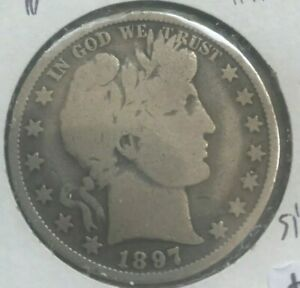 Click now to see the BUY IT NOW Price! 1897 BARBER HALF DOLLAR 50 CENTS