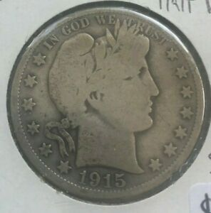 Click now to see the BUY IT NOW Price! 1915 D BARBER HALF DOLLAR 50 CENTS