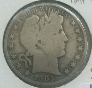 Click now to see the BUY IT NOW Price! 1905 S BARBER HALF DOLLAR 50 CENTS