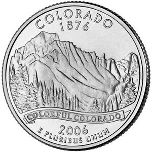 2006 P  AU  COLORADO STATE QUARTER US QUARTER DOLLARS