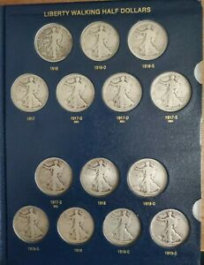 Click now to see the BUY IT NOW Price! 1916   1947 LIBERTY WALKING HALVES BOOK 65 COINS   FULL SET INCLUDING 1921 D