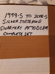 Click now to see the BUY IT NOW Price! 1999 2008 S COMPLETE SILVER PROOF STATE QUARTERS SET   ALL PCGS PR70 DCAM