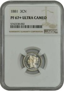 Click now to see the BUY IT NOW Price! 1881 3CN PF67  PR67  ULTRA CAMEO NGC 942338 21
