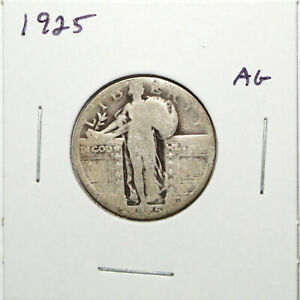 1925 US STANDING LIBERTY SILVER QUARTER  ABOUT GOOD  91C