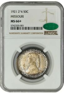 Click now to see the BUY IT NOW Price! 1921 2X4 MISSOURI HALF 50C MS66  NGC CAC 942361 8