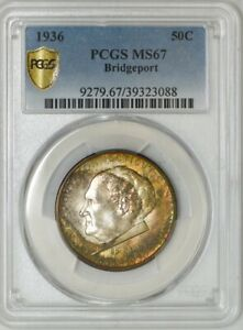 Click now to see the BUY IT NOW Price! 1936 BRIDGEPORT 50C MS67 SECURE PLUS PCGS 942709 1