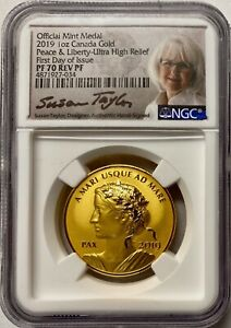 Click now to see the BUY IT NOW Price! 2019 CANADA GOLD 1 OZ PEACE & LIBERTY ULTRA HIGH RELIEF NGC PF70 REV PF