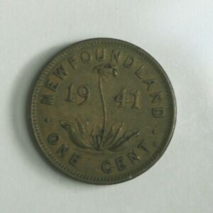 1941 C NEWFOUNDLAND SMALL ONE CENT COIN   KING GEORGE VI