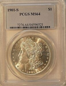 1901 S $1 MORGAN DOLLAR PCGS 64