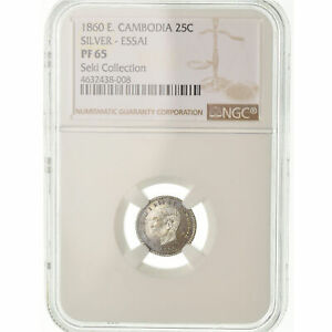 Click now to see the BUY IT NOW Price! [489352] COIN CAMBODIA NORODOM I 25 CENTIMES 1860 ESSAI NGC PF65