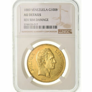 Click now to see the BUY IT NOW Price! [489356] MONEDA VENEZUELA 100 BOLIVARES 1889 CARACAS NGC AU DETAILS