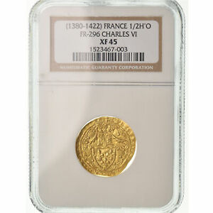Click now to see the BUY IT NOW Price! [489348] COIN FRANCE CHARLES VI 1/2 HEAUME D'OR 1417 LA ROCHELLE NGC