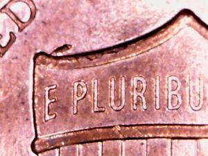 2014 P PENNY DIE CHIPS ON BACK