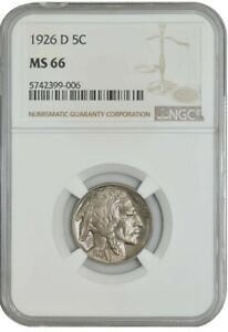 Click now to see the BUY IT NOW Price! 1926 D BUFFALO NICKEL 5C MS66 NGC 939208 1