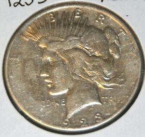 VG GOOD CIRCULATED 1923 S PEACE SILVER DOLLAR $1 COIN
