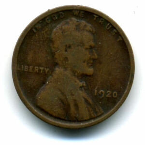 1920 P WHEAT PENNY KEY DATE US CIRCULATED ONE LINCOLN  1 CENT U.S COIN 1630