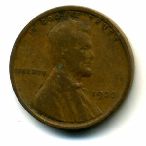 1920 P WHEAT PENNY KEY DATE US CIRCULATED ONE LINCOLN  1 CENT U.S COIN 1569