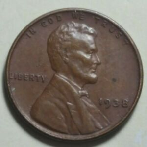 1938 P LINCOLN WHEAT CENT PENNY   HIGH GRADE   95  COPPER CIRCULATED COIN