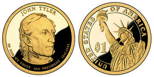 2009 S GEM PROOF JOHN TYLER DCAM PR PRESIDENTIAL DOLLAR UNCIRCULATED COIN PF