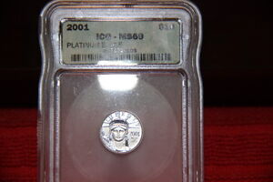 2001 $10 PLATINUM EAGLE ICG MS69