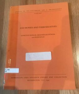 Click now to see the BUY IT NOW Price! AXE MONIES AND THEIR RELATIVES BY HOSLER LECHTMAN & HOLM   PRINTED 1990