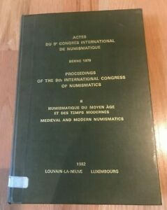 Click now to see the BUY IT NOW Price! 9TH INTERNATIONAL CONGRESS OF NUMISMATICS MEDIEVAL & MODERN BY  LOUVAIN LA NEUVE