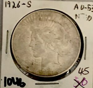 1046: 1926 PEACE DOLLAR ALMOST UNC. BETTER DATE & CONDITION. GR8 LOOKING