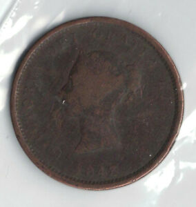 CANADIAN COINS   NEW BRUNSWICK ONE PENNY TOKEN 1843