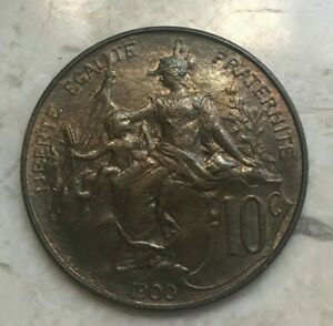 Click now to see the BUY IT NOW Price! 1900 FRANCE 10 CENTIMES   NICE COPPER