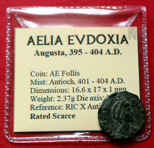Click now to see the BUY IT NOW Price! GENUINE  ROMAN COIN 404AD AELIA EUDOXIA FOLLIS MANUS DEI ANTIOCH