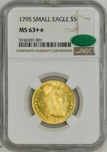 Click now to see the BUY IT NOW Price! 1795 $5 GOLD CAPPED BUST SMALL EAGLE MS63   NGC CAC 942751 1
