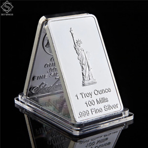 USA EAGLE STATUE OF LIBERTY COMMEMORATIVE COINS UNITED STATE RECTANGLE SILVER