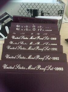 Click now to see the BUY IT NOW Price! UNITED STATES MINT PROOF SET 1984 TO 1993