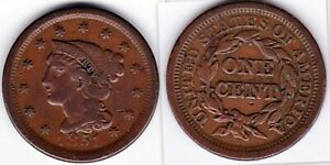 1851 BRAIDED HAIR LARGE CENT VF GREAT FOR 19TH CENTURY TYPE SET