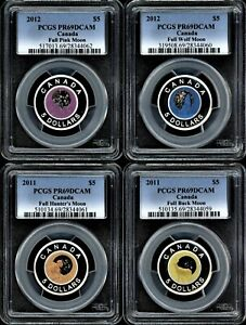 Click now to see the BUY IT NOW Price! CANADA 2011 12 $5 FULL MOON SET OF 4 PCGS PR69DCAM